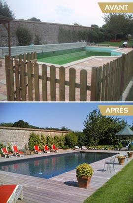R novation de piscine constructeur de piscines mont de for Constructeur piscine landes